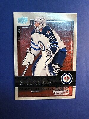 2015-16 Upper Deck Fusion Red Rookie #R7 Connor Hellebuyck Winnipeg Jets RC