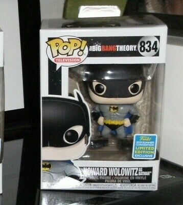 Funko Pop! #834 Howard Wolowitz as Batman Big Bang Theory Limited Exclusive sdcc