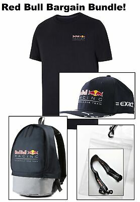 T-Shirt Bag Lanyard Cap Red Bull Racing Formula One Bargain Bundle! F1 NEW!