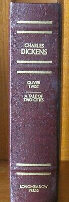 The Works of Charles Dickens Leather bound Longmeadow Press Oliver Twist Tale 2