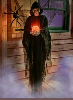 Life Size Psychic Grim REAPER HALLOWEEN Decoration Prop Crystal Ball
