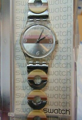 SWATCH WATCH - SWISS Made Ladies Stainless Steel Band - New / Old Stock