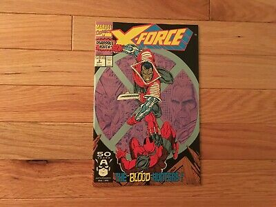 X-Force #2 Deadpool 2nd App, Cable, Liefeld, Marvel Comics 1991 Comb Shipping T