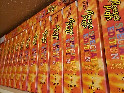 Travis Scott Reeses Puffs Cereal Special Edition Box Family Size New Retro 1 4 6