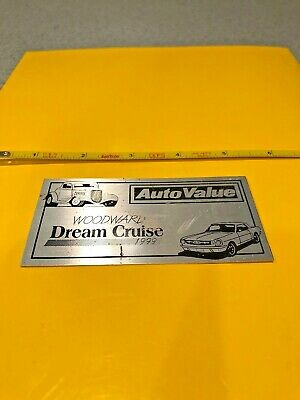 vintage 1999 Woodward Dream Cruise Car plaque