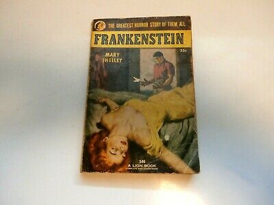 Rare 1953 FRANKENSTEIN PAPERBACK BOOK BY MARY SHELLEY 146 A LION BOOK