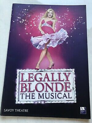 Legally Blonde The Musical Savoy Theatre London Programme 2010 Sheridan Smith