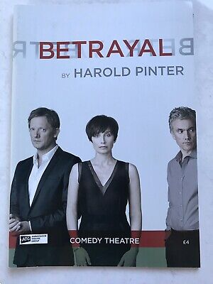 Betrayal By Harold Pinter London Theatre Programme Comedy Theatre 2011