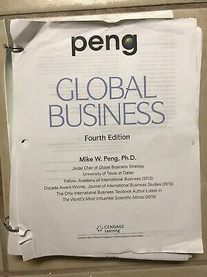 GLOBAL BUSINESS 4 EDITION BY PENG - Loose Leaf Version