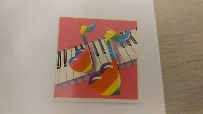 Vintage 1980's keyboard Piano Hearts Notes Sticker by Lisa Frank
