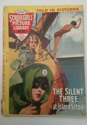 Schoolgirls  Picture Library No 87 - The Silent Three at Island School- 1960
