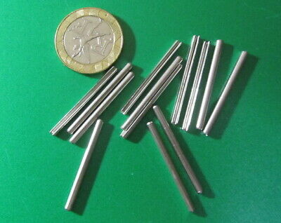 Stainless Steel.Metric Slotted Spring Pin, M2 Dia x 30 mm Length, 50 pcs