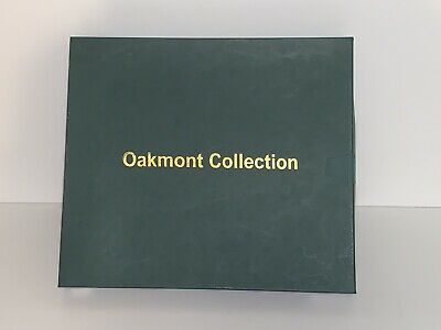 Vintage Oakmont Collection Checkers Game - Wood Board / Glass Checkers