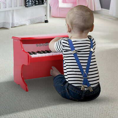 Red 25 Key Kids Toddler Mini Piano Toy Musical Instrument w/ Stickers