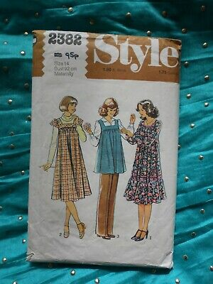 """MATERNITY sewing pattern. STYLE 2382. DRESS, SMOCK, TROUSERS. Bust 36""""."""