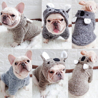 French Bulldog Winter Dog Clothes Cotton Hooded Sweater for Small Pets Puppy Lot