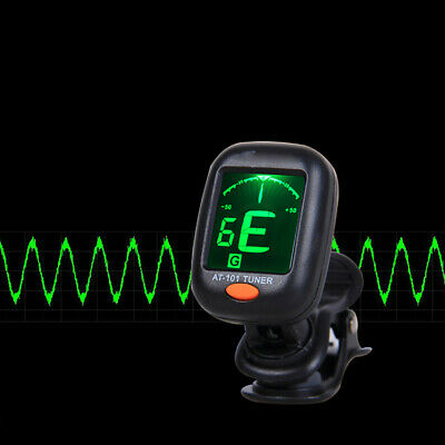 Digital Chromatic LCD Clip-On Electric Tuner for Bass Guitar Ukulele Violin 360