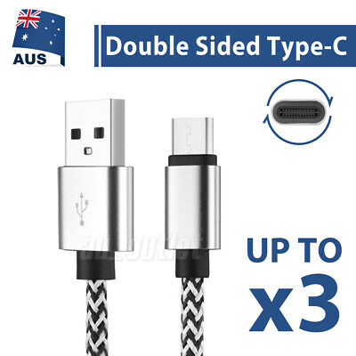 3x USB Type C Fast Charger Charging Data Cable For Samsung Galaxy Huawei Oppo
