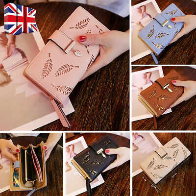 Stylish Womens Bifold Wallet Leather Clutch Card Holder Ladys Purse Long Handbag
