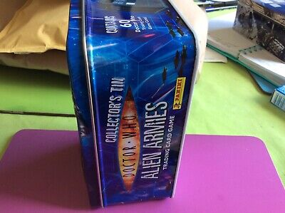 Doctor who alien armies tin with 60 trading cards