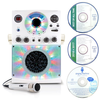 Singing Machine SML385 Karaoke Equipment with Bluetooth 1 Microphone and 36