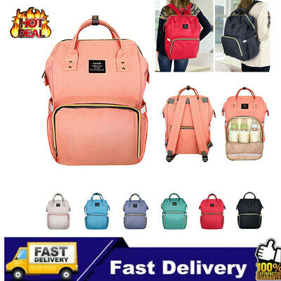 AU GENUINE LAND Multifunctional Baby Diaper Mummy Backpack Changing Bag Nappy