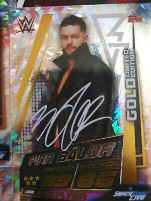WWE Slam Attax Universe finn balor Gold Limited Edition Card Topps