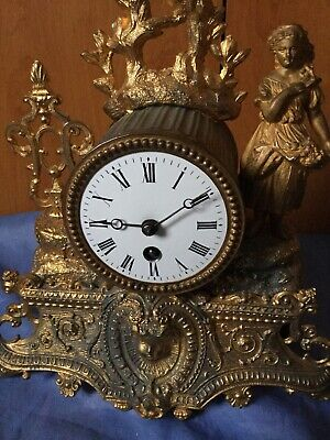 An Antique French Mantel Clock, Very Decorative