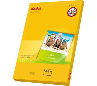 Kodak Photo Paper Gloss Instant Dry A4 180 Gsm 20 Sheets - Free Postage
