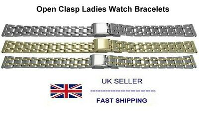 Open Clasp Watch Bracelet For Ladies Watches Sizes 8mm 10mm 12mm 14mm