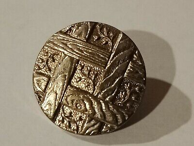 Antique PARIS BACK button AP & Cie solidaire silver metal art nouveau