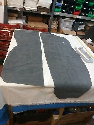 2 x Grey Suede  leather reenactments scout, crafts1.6-1.7mm thickness lot 849