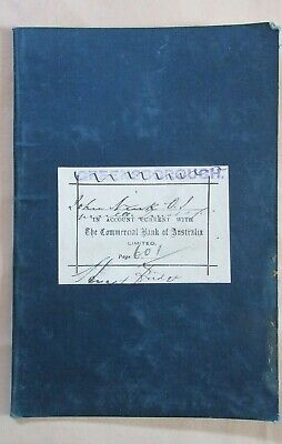 Circa 1910's The Commercial Bank Of Australia Limited Greensborough Pass Books.