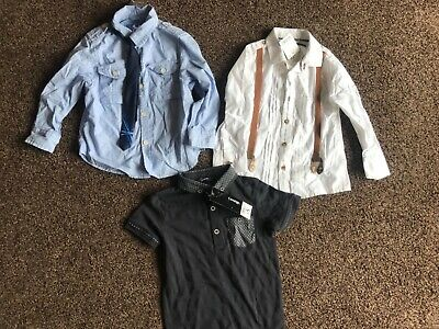 New Next George boys bundle shirts tshirt age 3 years, 3 shirts  lot