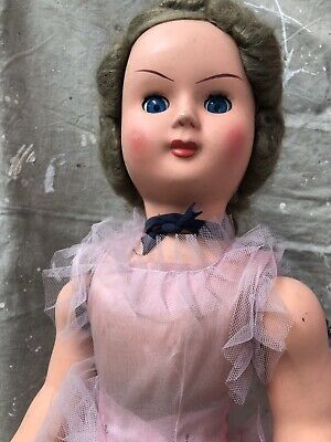 VINTAGE DOLL made in England- celluloid doll c1930s-1940s