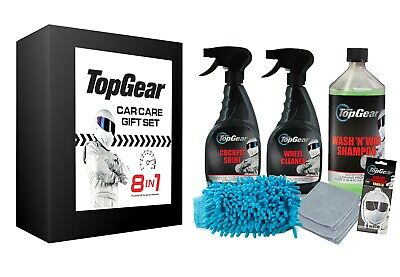 Top Gear Car Cleaning 8 in 1 Gift Set with The Stig Air Fresheners