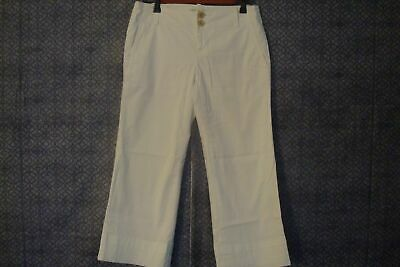 Banana Republic Womens Crop Stretch Lined Pants Size 2 White