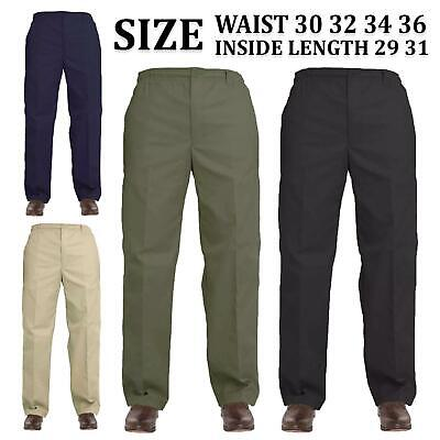 Mens Elasticated Waist Casual Work Smart Rugby Trouser Regular Combat Rugby Pant