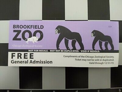 Brookfield Zoo Admission Tickets - Ships Free