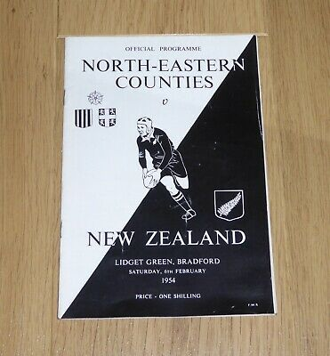 1954 NE COUNTIES v NEW ZEALAND @ LIDGET GREEN ,RUGBY UNION TOUR MATCH PROGRAMME
