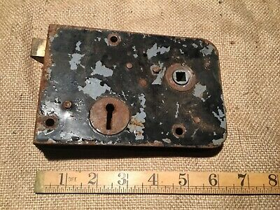 antique vintage door lock victorian rim lock handle/knob (3)