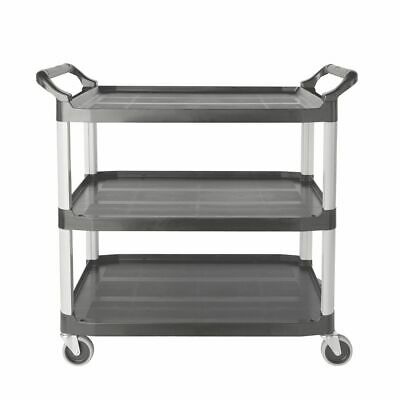 Rubbermaid FG409100GRAY Xtra Open Sided 3-Shelf Utility Cart