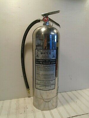 Bell System Fire Extinguisher Model E-10 Water Can 2-1/2 gal WORKS