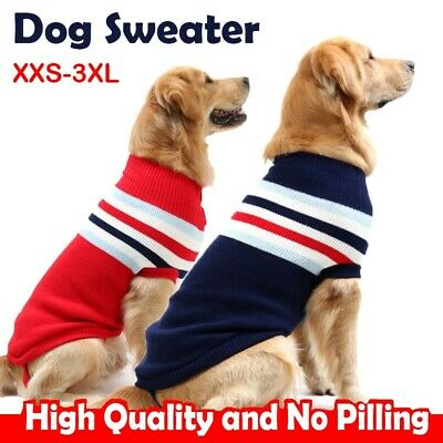 Pet Sweaters Dog Winter Warm Sweater Fit Small Medium and Large Dogs Clothing UK