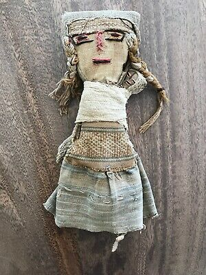 20th C. Peruvian Doll Made From Antique Pre Columbian Textiles. No Reserve!