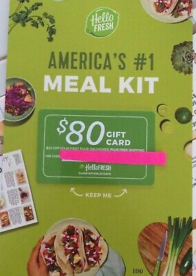 Hello Fresh Meal Kit $80 Gift Card