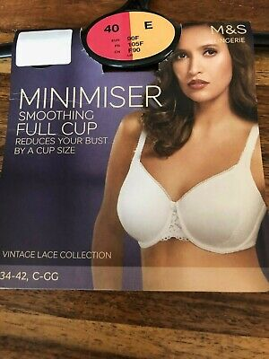 M/&S Nude Bra Smoothing Minimiser Non Padded Full Cup Underwired Comfort 5959