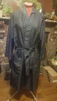 "Mens  retro  "" Silky Feel "" Dressing Gown house coat"