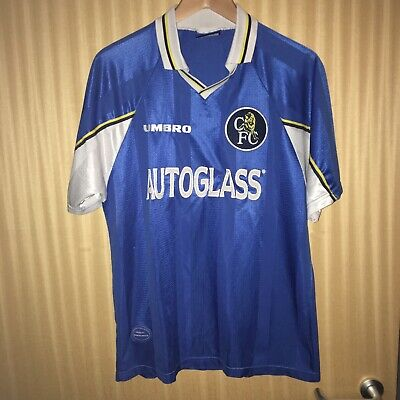 Chelsea Home Shirt 1997-1998 Umbro Great Condition Size Large