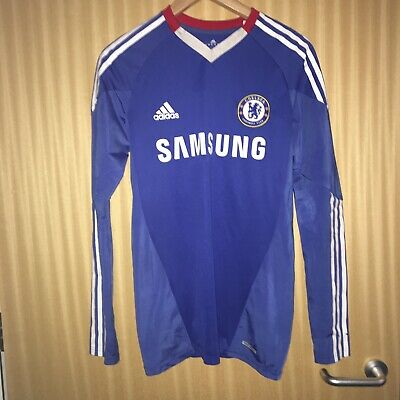 Chelsea 2011-2012 Home Shirt Long Sleeve Techfit Player Issue Size Large
